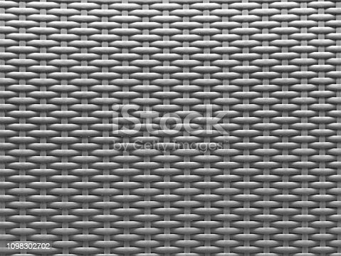 gray textured background of modern plastic wickerwork basketry