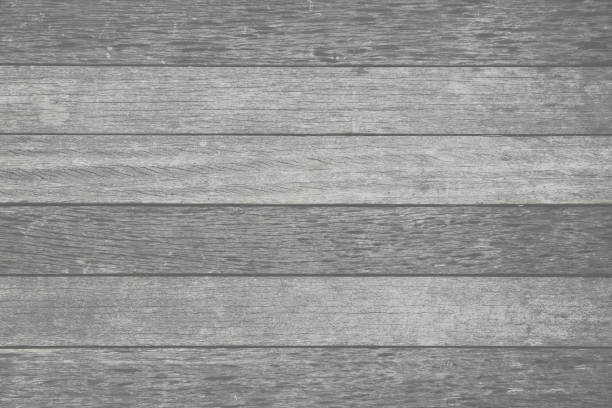 Gray timber plank textured stock photo