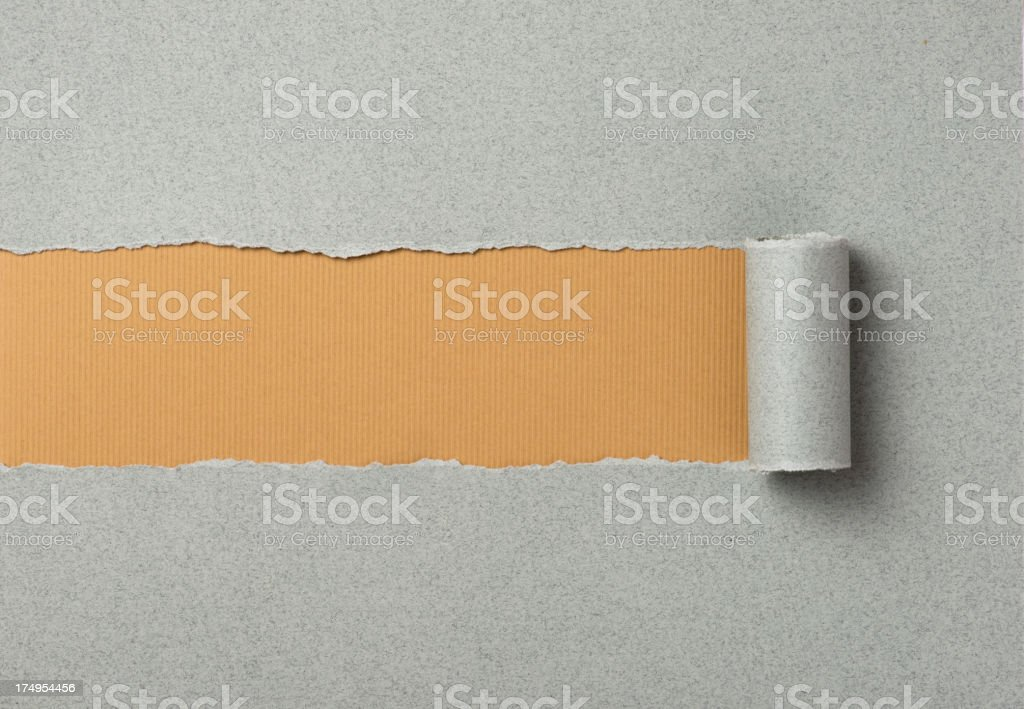 Gray torn paper background royalty-free stock photo