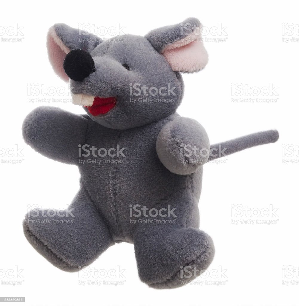 Gray Toy Mouse Left stock photo