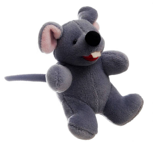 Gray Toy Mouse Right stock photo