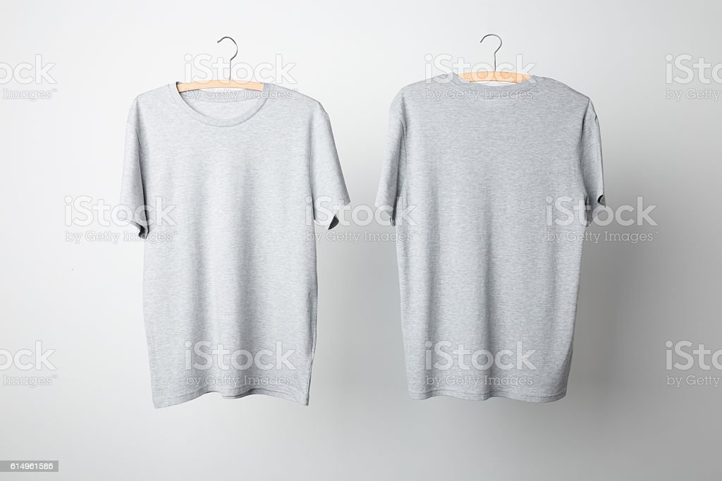 Gray T-Shirt Mock-up - foto de stock