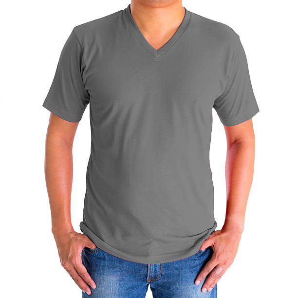 Royalty Free T Shirt V Neck Template Model Pictures, Images and ...