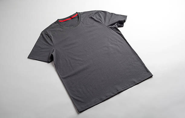 Gray tshirt template ready for your graphic design. stock photo