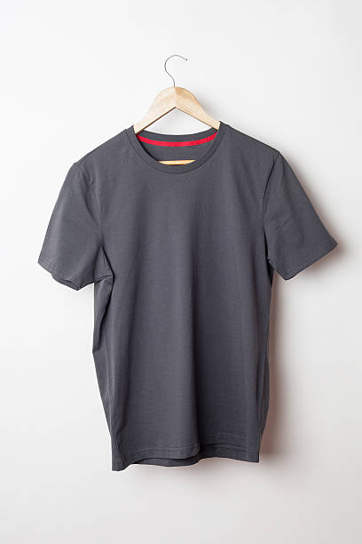 Gray t-shirt template ready for your graphic design. stock photo
