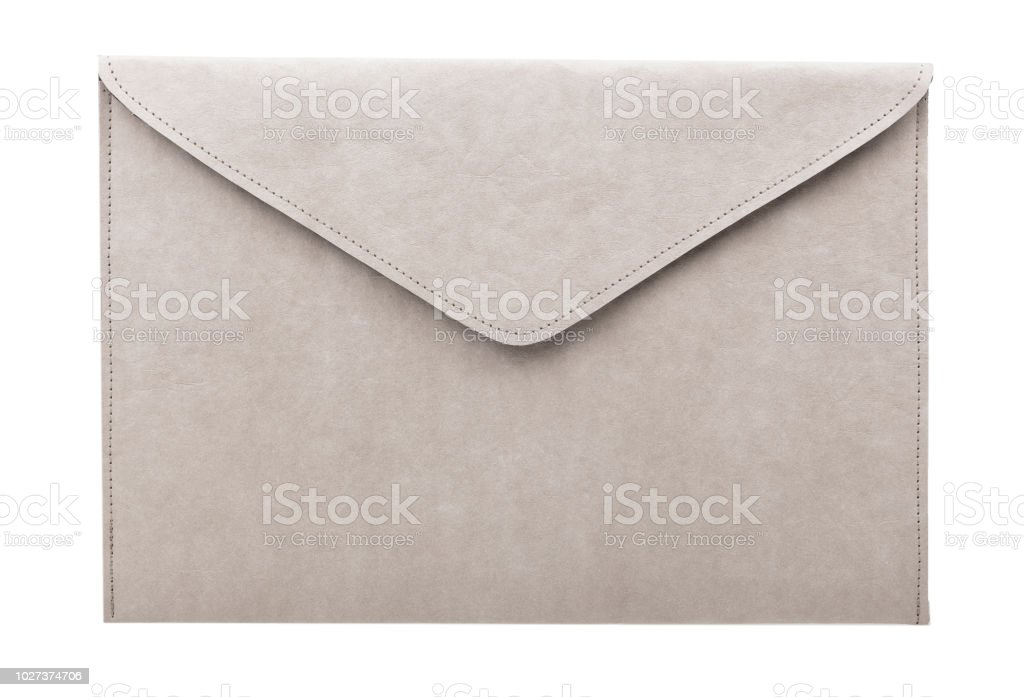 ビンテージ グレーの封筒 ストックフォト