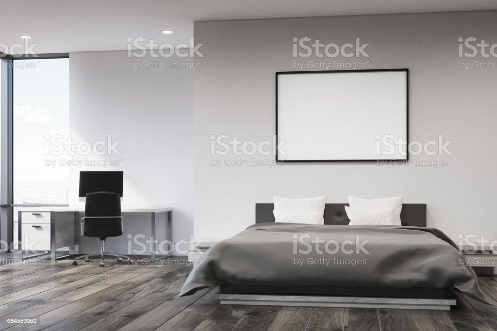 Graue Wand Schlafzimmer Vorne Stockfoto und mehr Bilder von ...