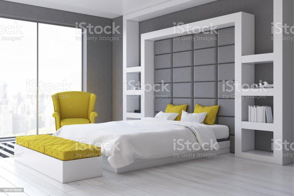 Graue Wand Schlafzimmer Seite Stockfoto und mehr Bilder von ...