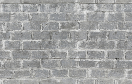 istock Gray wall made of aerated concrete blocks. Seamless background t 495509583