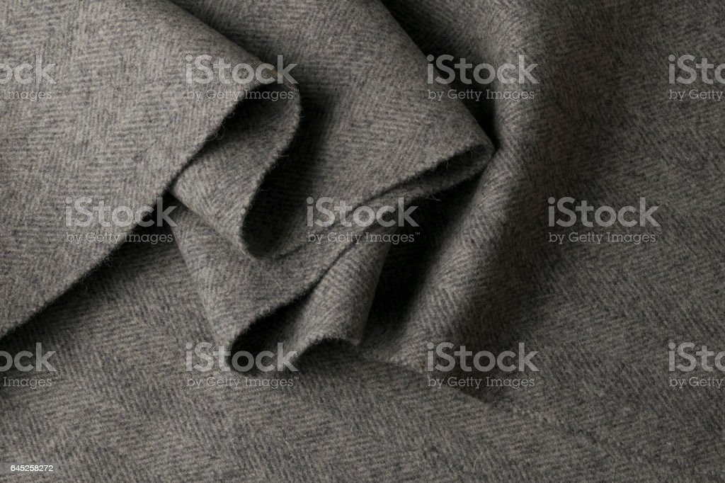 Gray wool fabric, textile with patterns stock photo