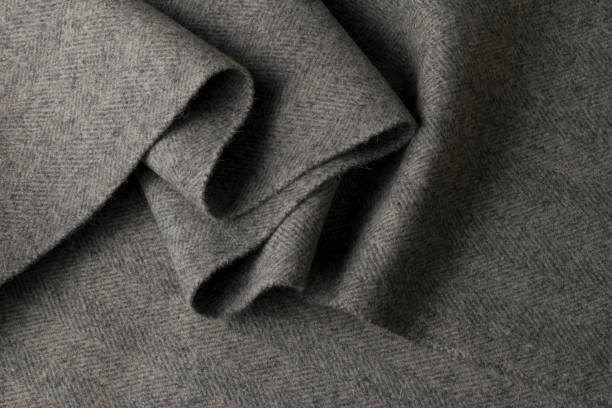 gray wool fabric, textile with patterns - caxemira imagens e fotografias de stock