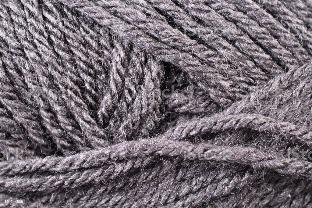 Gray Yarn Texture Close Up stock photo