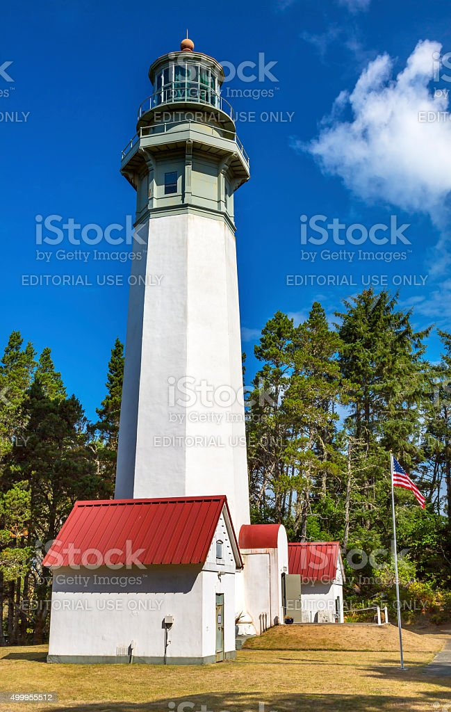 Grays Harbor Lighthouse Westport Washington State stock photo