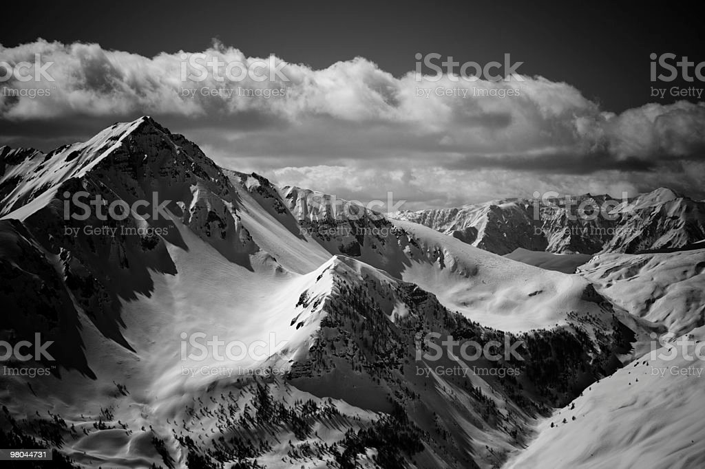 Grayscale Alps royalty-free stock photo