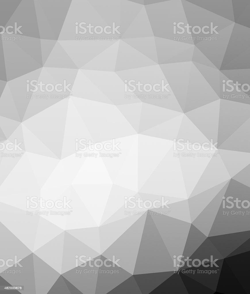 Grayscale Polygonal background stock photo