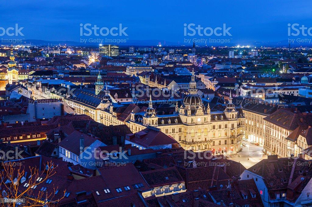 Graz City Hall on Hauptplatz stock photo