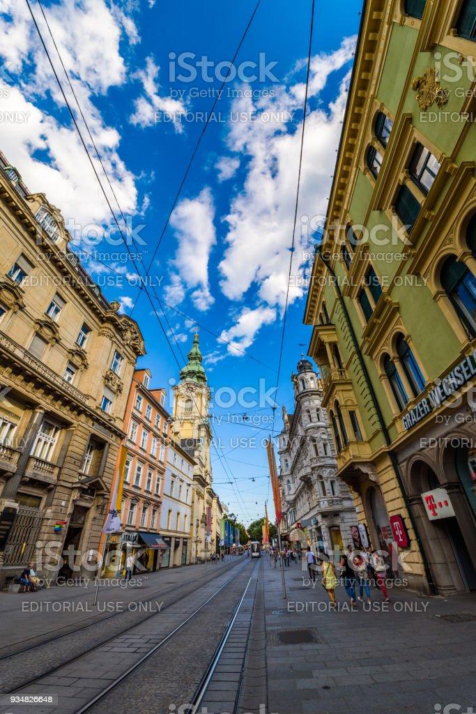그라츠 도시 스티리아 오스트리아 - 로열티 프리 각도 스톡 사진