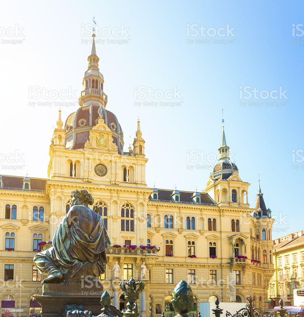 Graz hall town stock photo