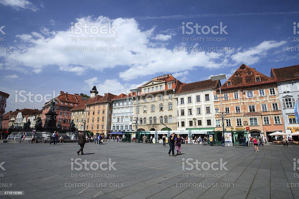 Graz, Hauptplatz stock photo