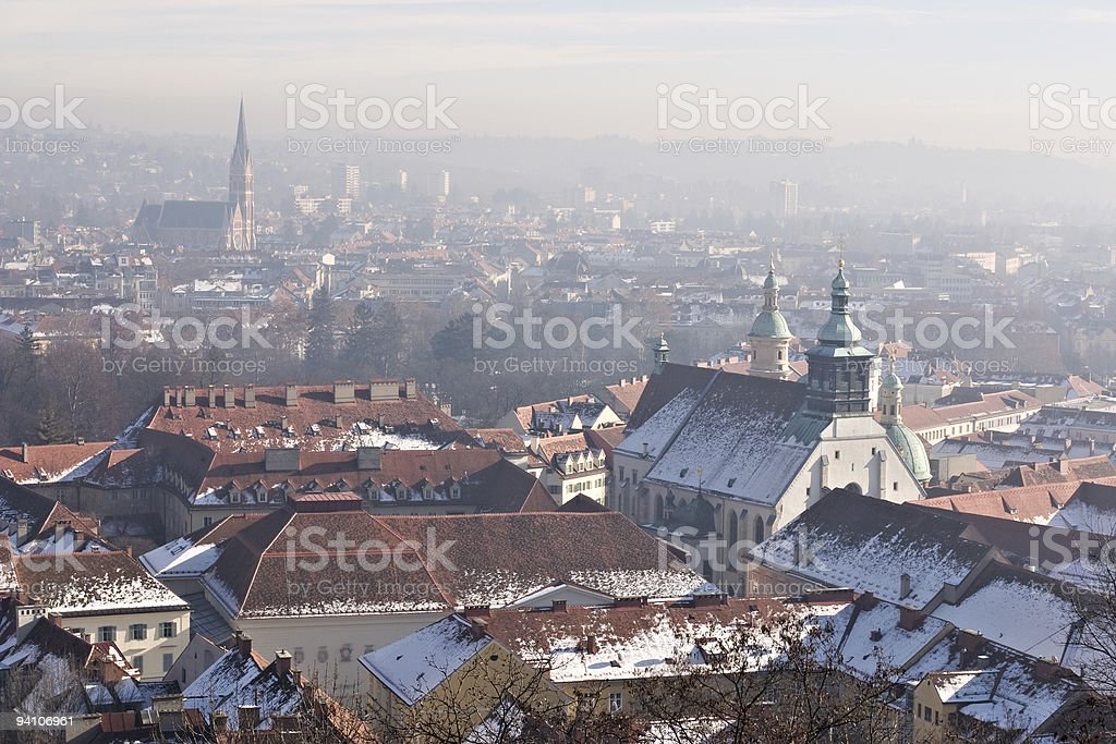 Graz panorama royalty-free stock photo