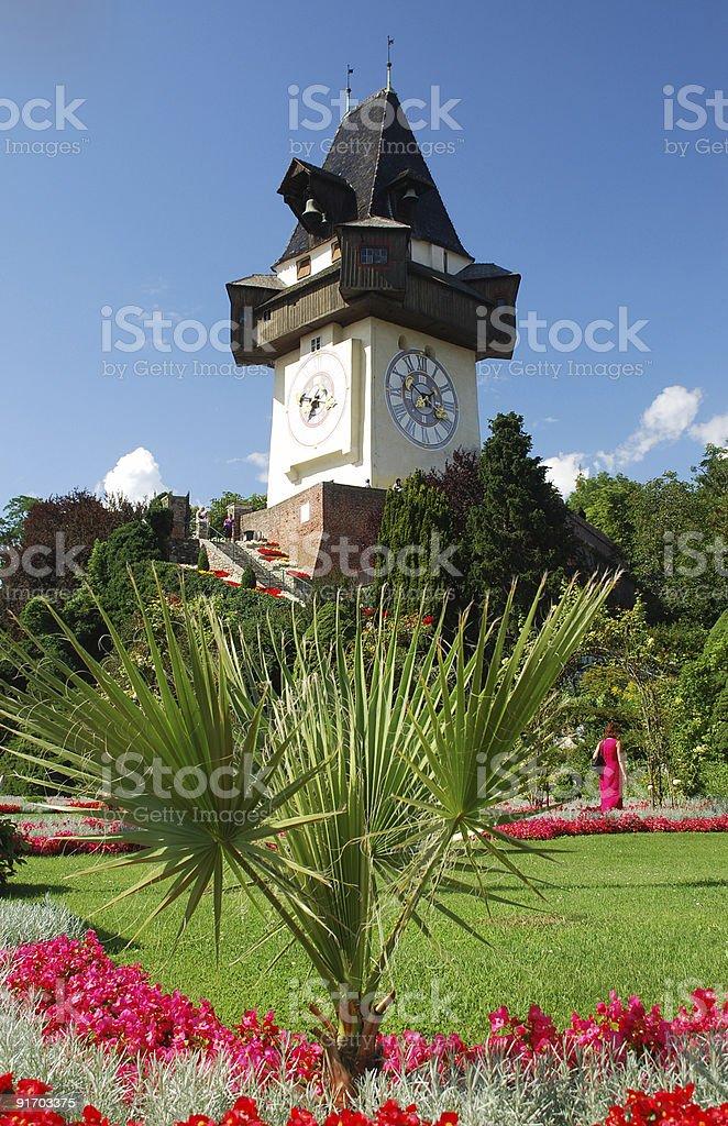 Graz Uhrturm stock photo
