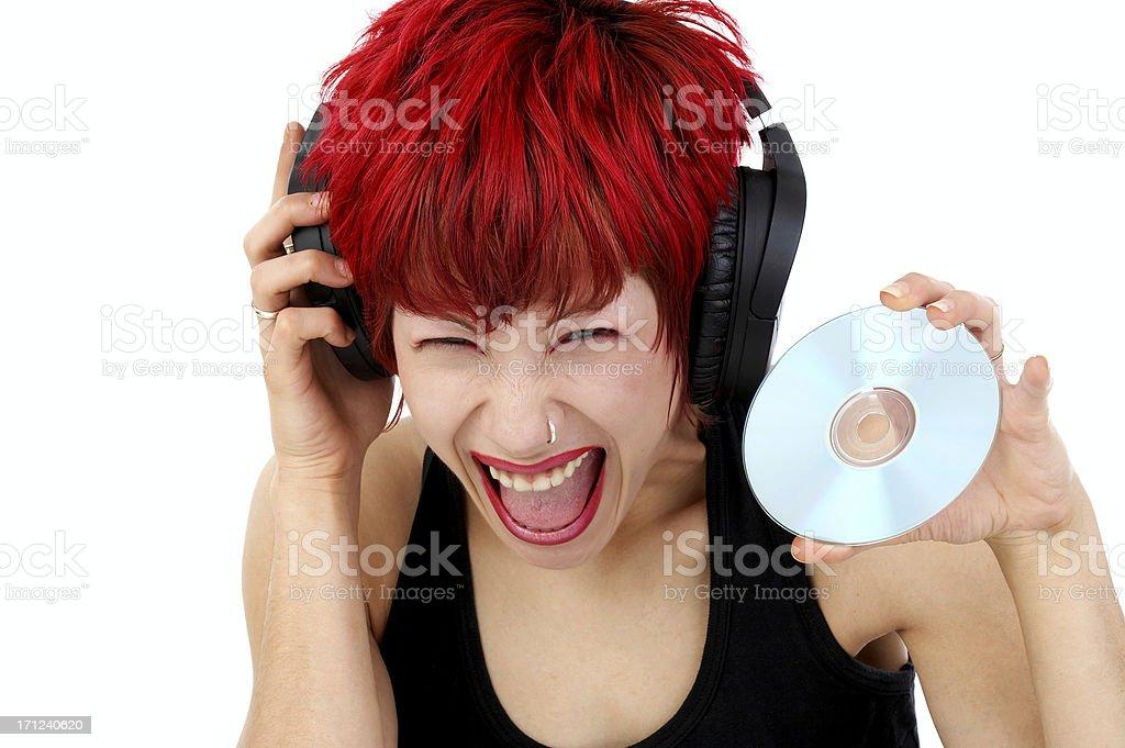 Grazy CD royalty-free stock photo