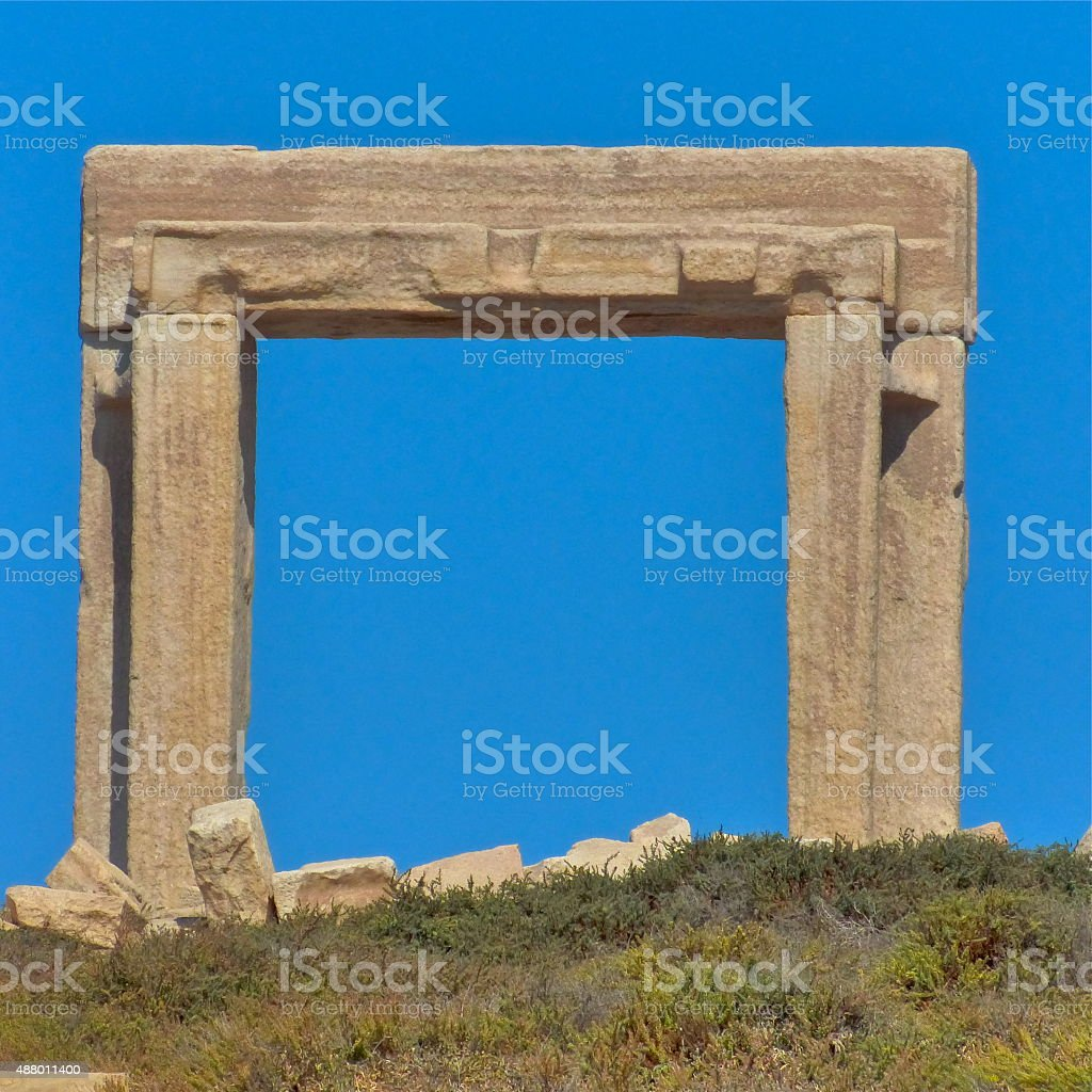 Grèce, Naxos, Temple Apollon stock photo