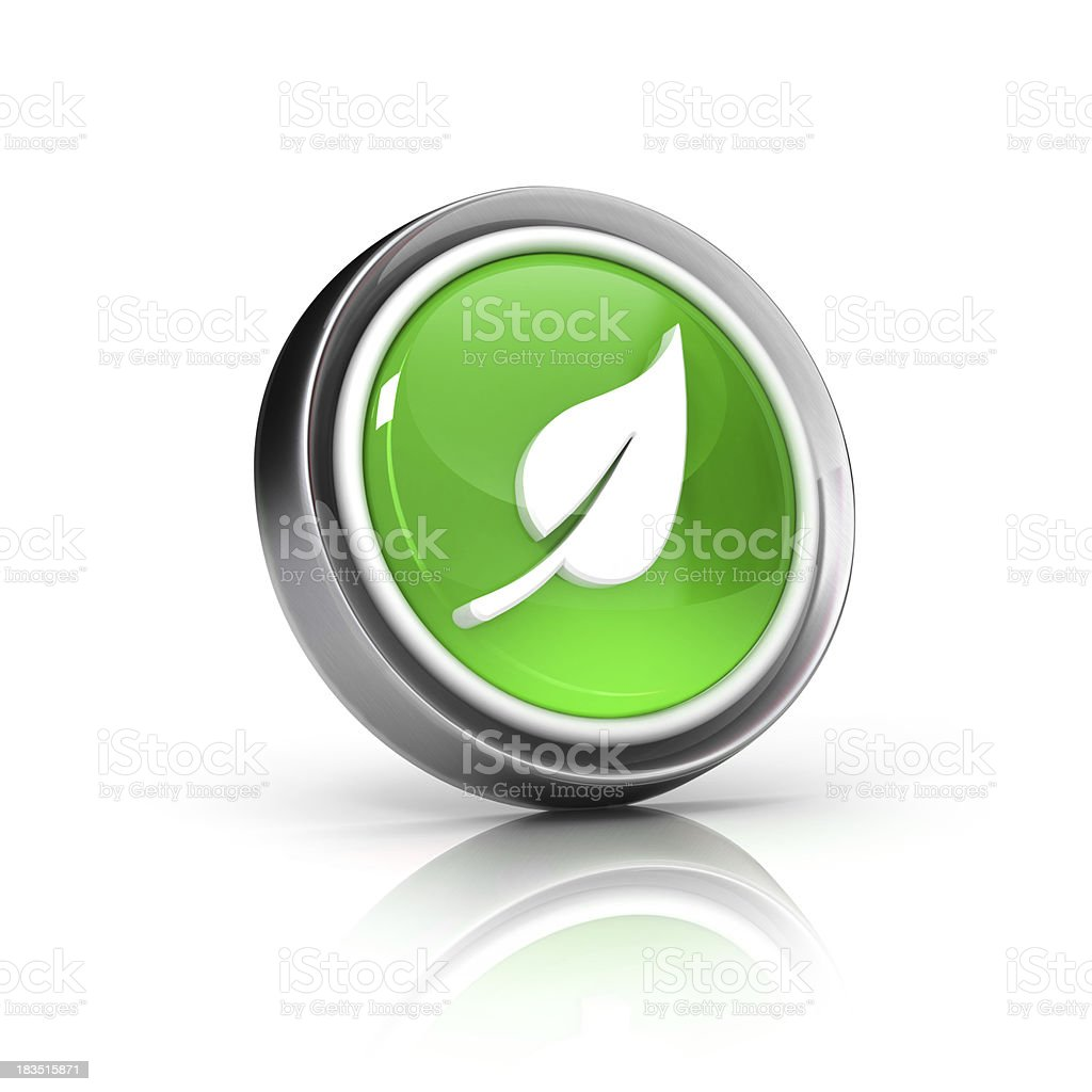 Grean leaf icon royalty-free stock photo