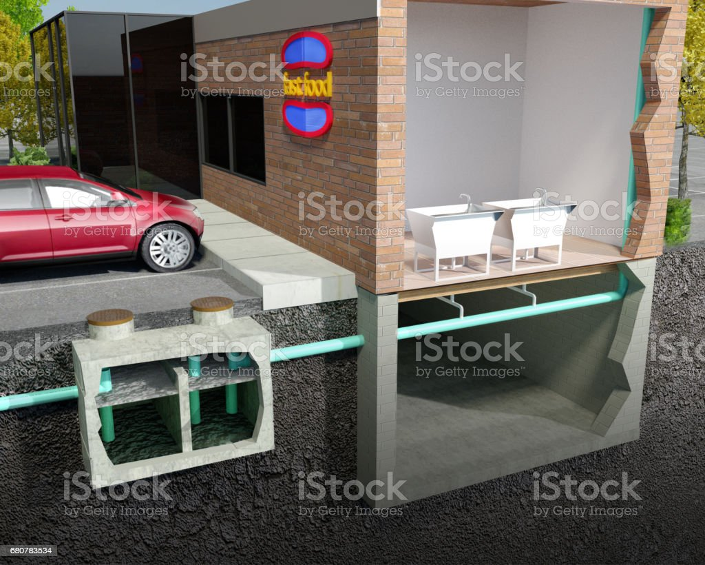 Grease Interceptor/Grease Trap stock photo
