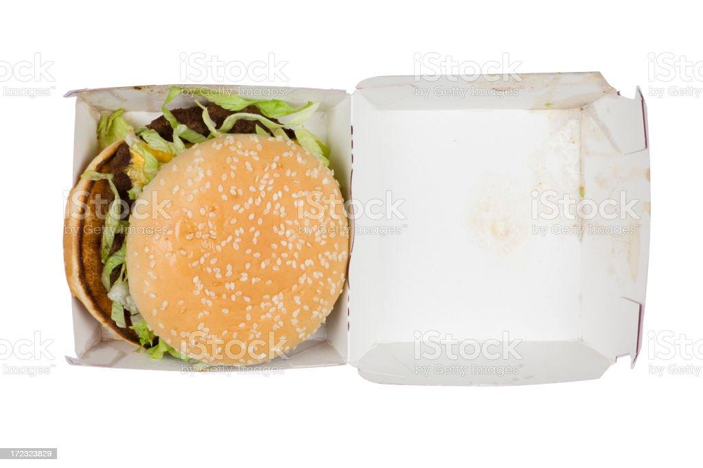 Greasy hamburger royalty-free stock photo