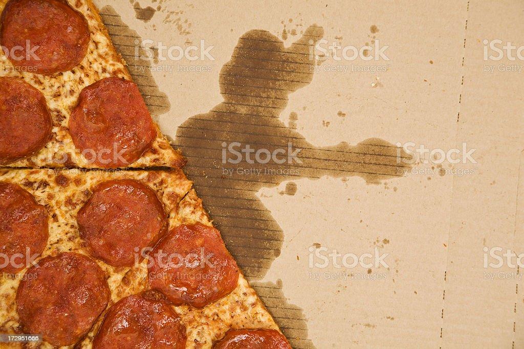 Greasy Pizza stock photo