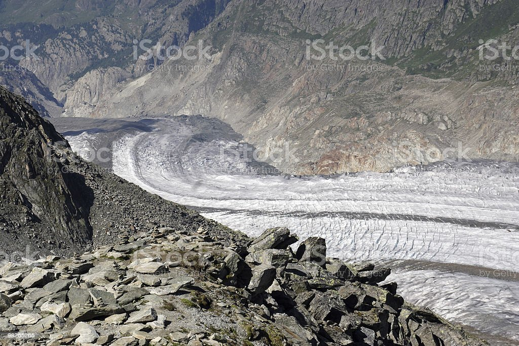 Grosser Aletschgletscher royalty-free stock photo