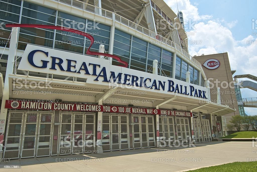 Great American Ball Park, Cincinnati, Ohio. Home of the Reds stock photo