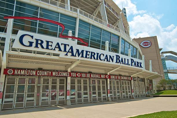 Great American Ball Park, Cincinnati, Ohio. Home of the Reds stock photo
