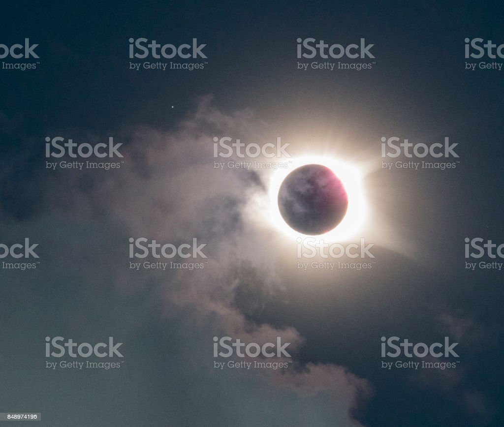 Great American eclipse august 2017 stock photo