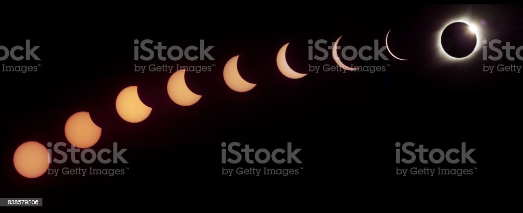 Great American Eclipse of 2017 Time Lapse stock photo