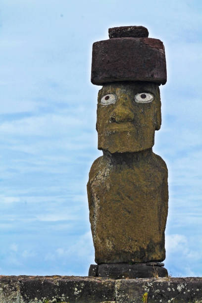 A great and eyed moai