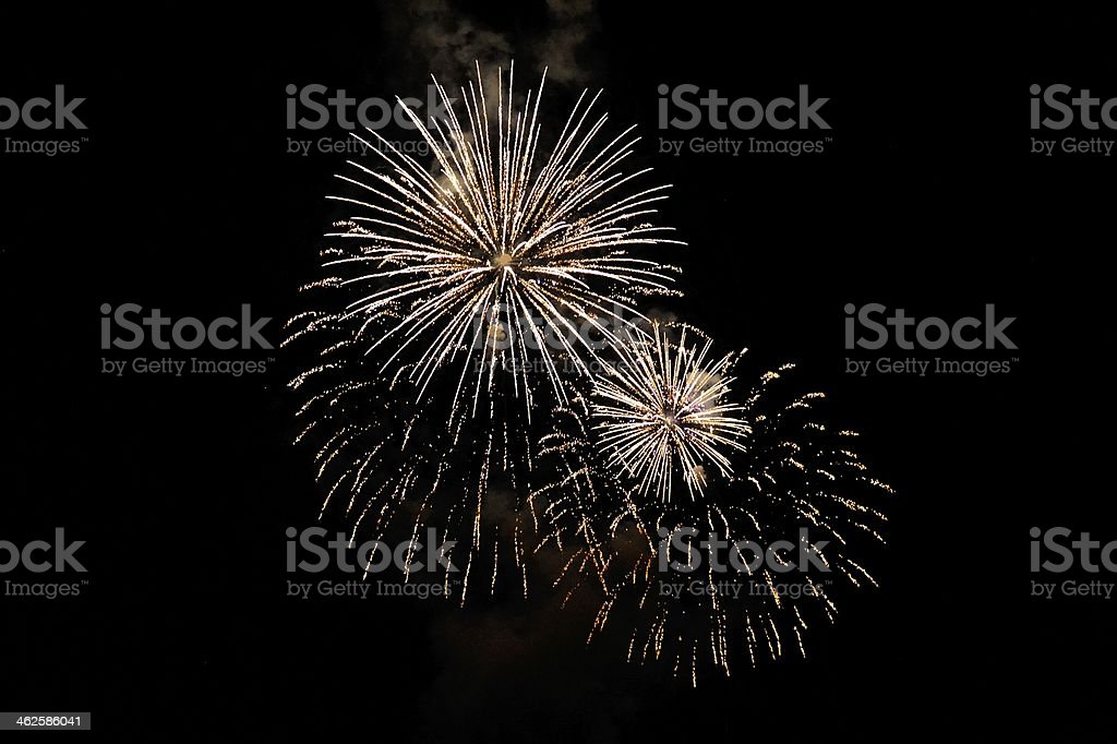 Great balls of fireworks royalty-free stock photo