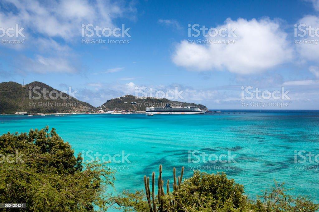 Great Bay in Dutch St. Maarten, Caribbeang foto de stock royalty-free