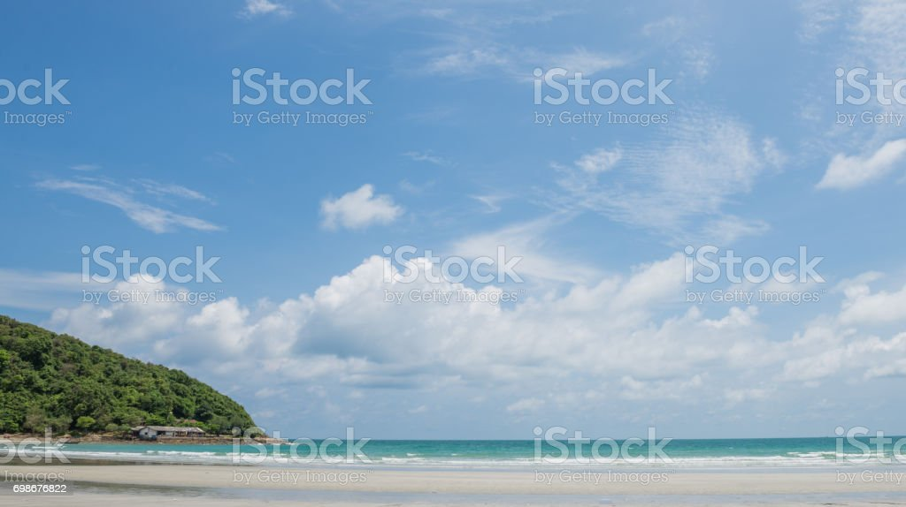 Great beach in day time , Rayong Thailand stock photo