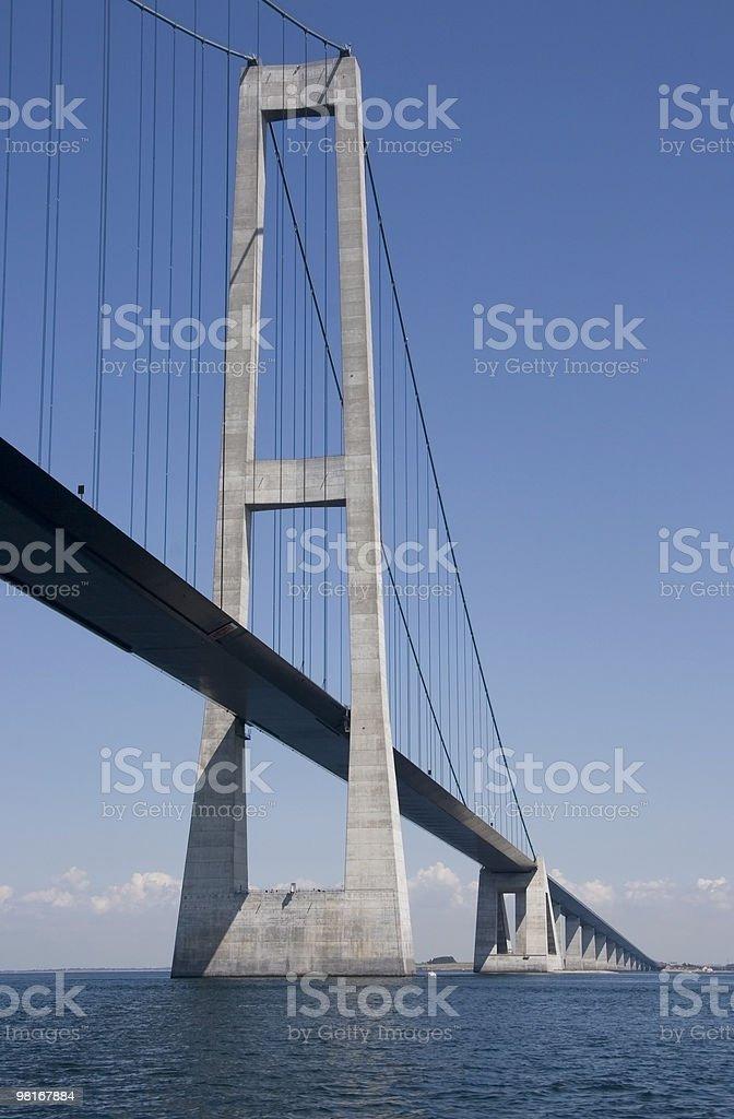 Great Belt Bridge royalty-free stock photo