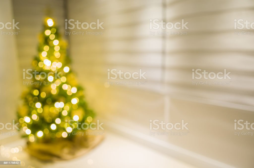 Great blurred background with Christmas theme, Christmas pine...