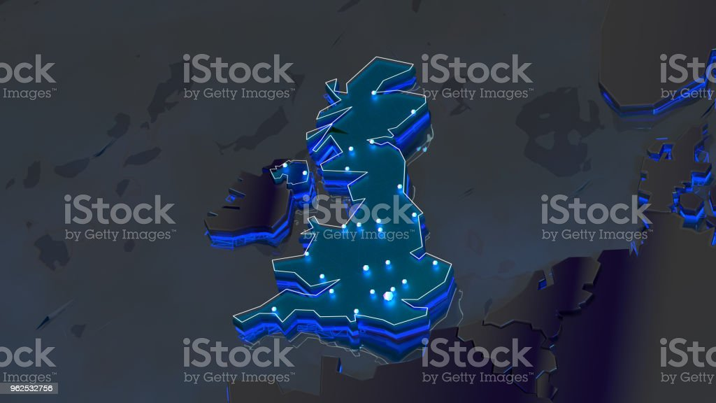 Grã-Bretanha 3d - Foto de stock de Azul royalty-free