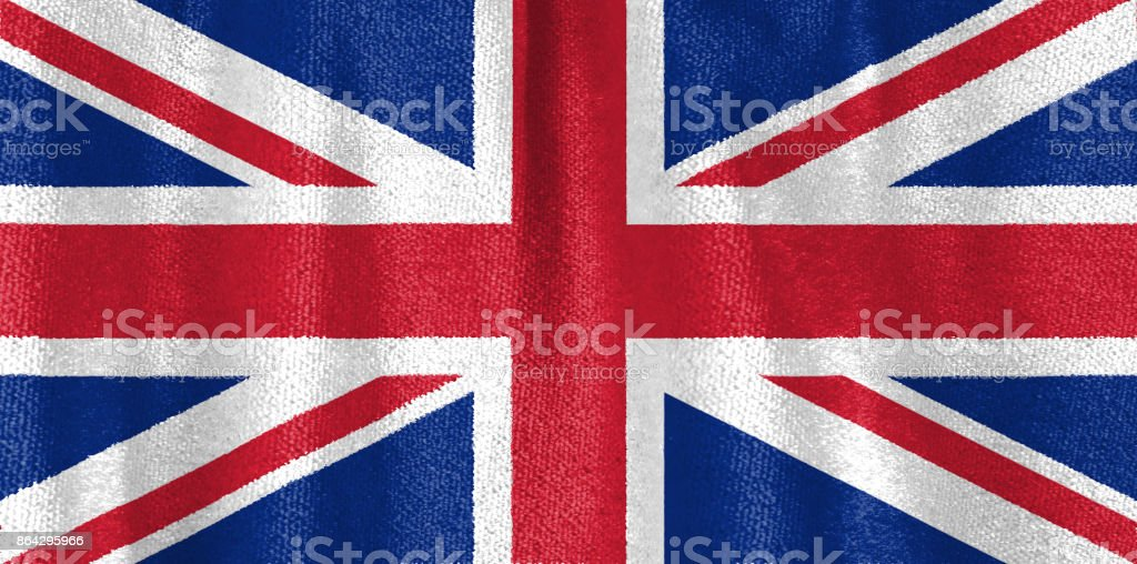 Great Britain flag fabric royalty-free stock photo