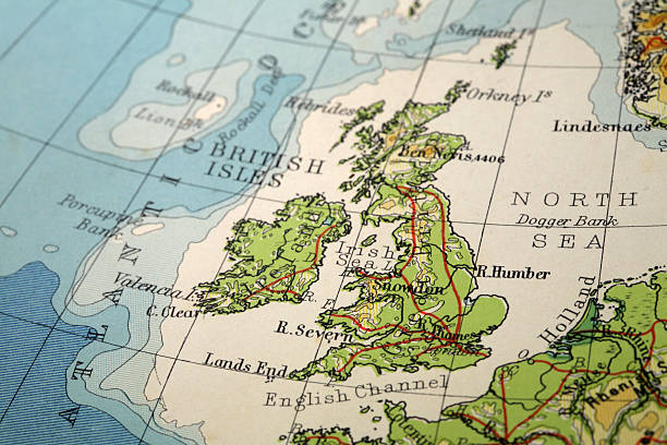 Great Britain  uk map stock pictures, royalty-free photos & images