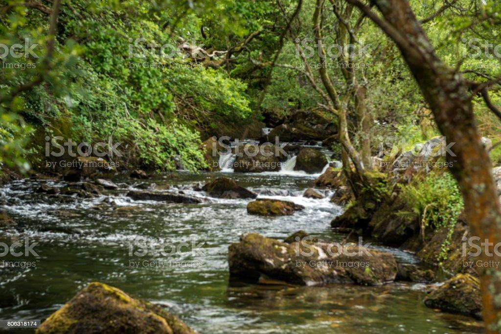 Great British Rivers and Waterfalls - Afon Ogwen stock photo