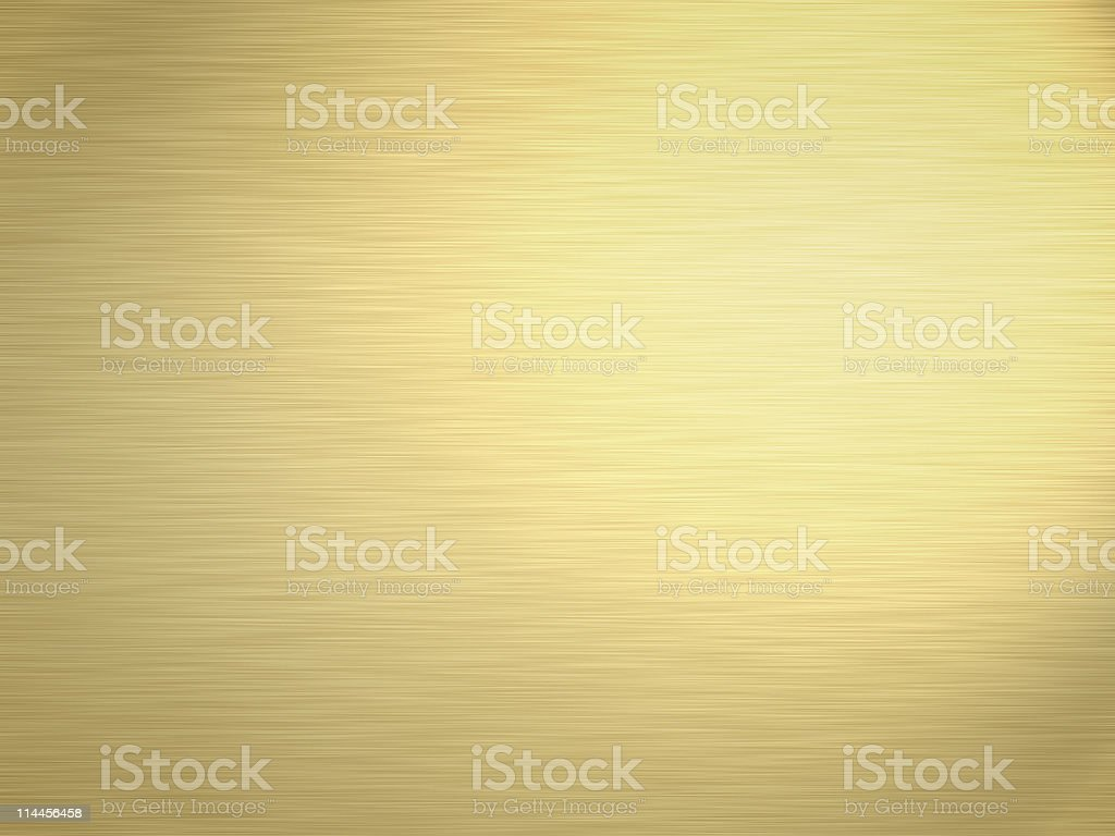 great brushed gold metal background texture stock photo