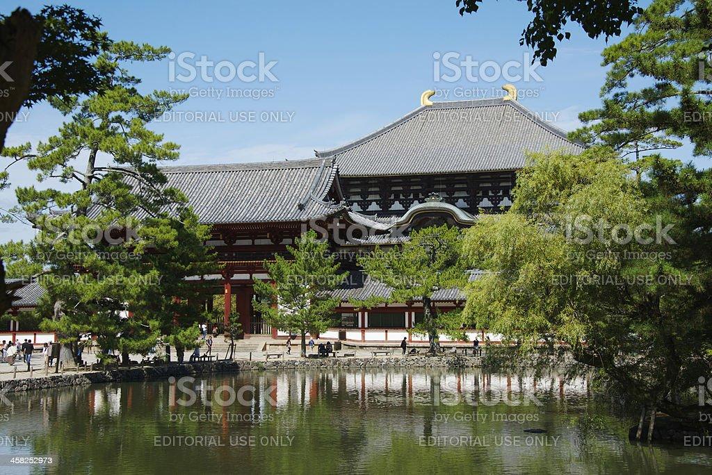Great Buddha Hall at Tōdai-ji temple (Daibutsu) in Nara royalty-free stock photo