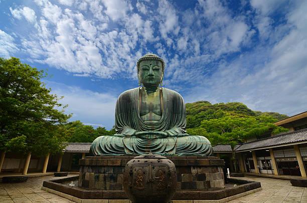 wielki budda w kamakura - prefektura kanagawa zdjęcia i obrazy z banku zdjęć
