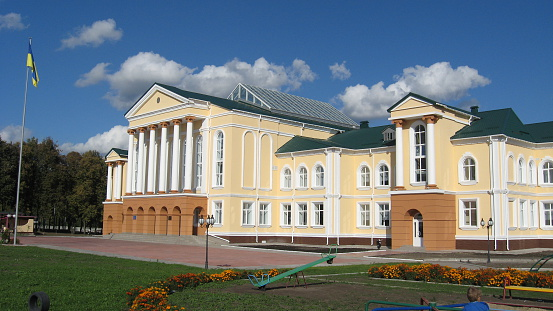 istock great building of school in Sedniv village, Chernihiv region 603305314
